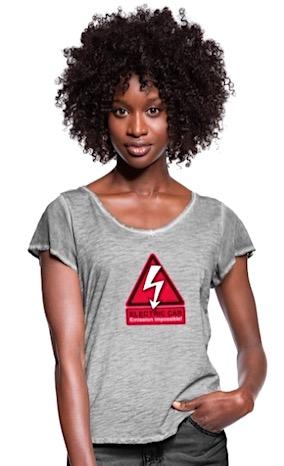 Elektroauto-Motive auf T-Shirts, Kaffeetassen, Taschen, iphone-Hüllen…