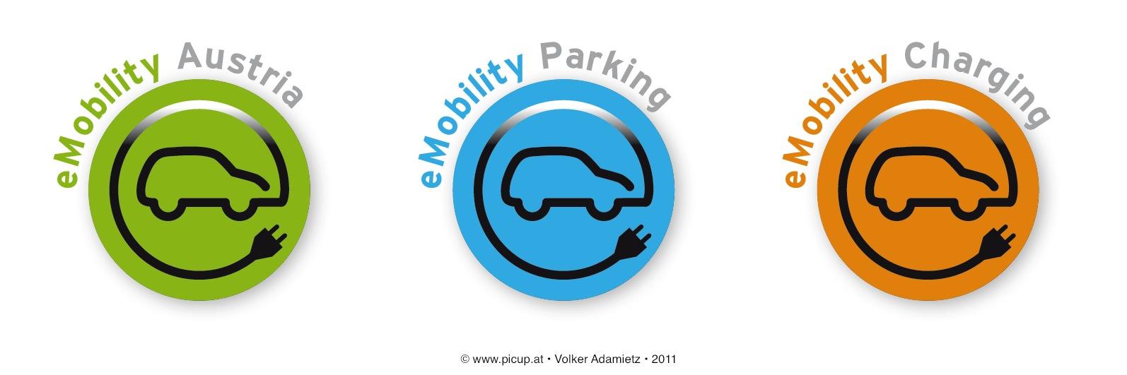 Elektromobilität in Österreich sucht ein Logo. Der Wettbewerb befindet sich in der Entscheidungsphase.