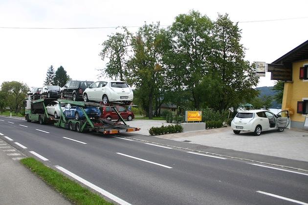Leaf Tagebuch Tag 01 Auto abladen