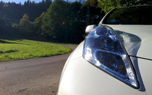 Nissan Leaf im Grünen