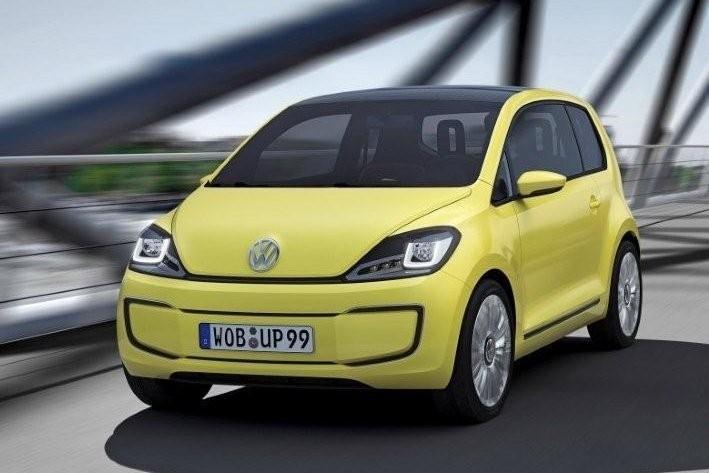 VW E-up gelb elektrisch