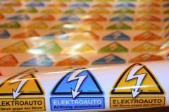 """Das österreichische Elektroauto-Pickerl, welches vor Elektroautos """"entwarnt""""!"""