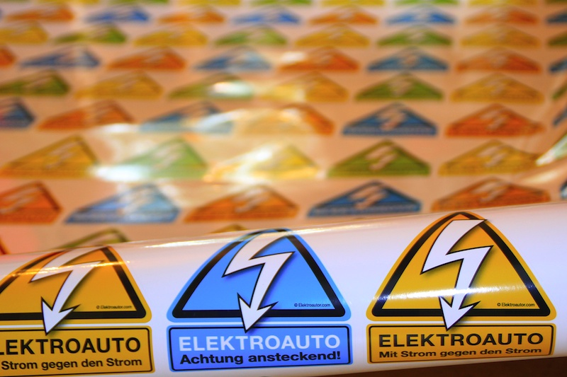 Elektroauto Sticker