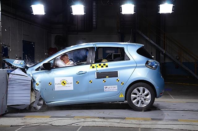 Renault ZOE erzielt mit 5 Sternen Bestnoten bei Euro NCAP