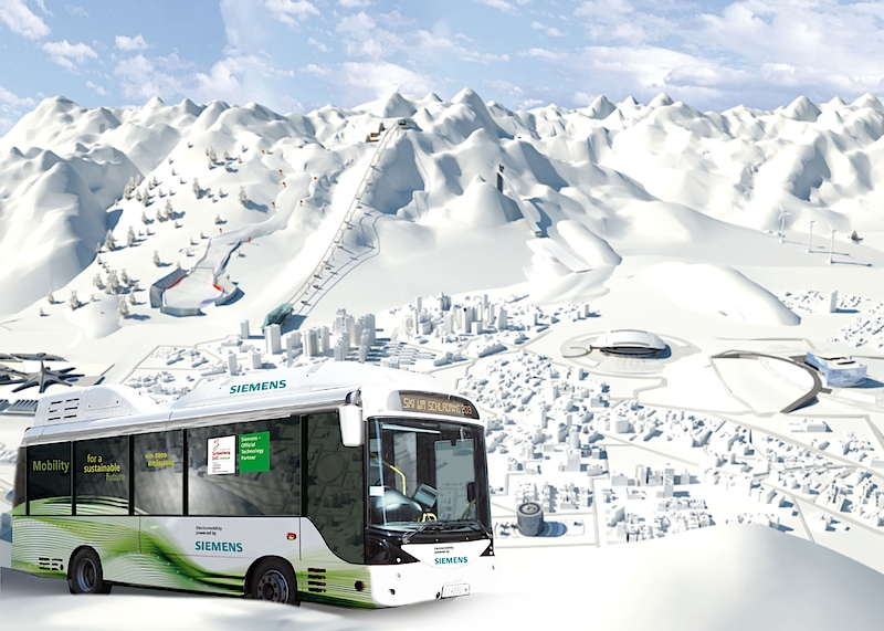 ski wm 2013 mit elektrobus von siemens. Black Bedroom Furniture Sets. Home Design Ideas