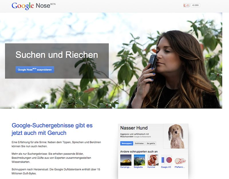 Screenshot: Google Nose Beta