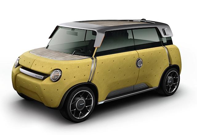 Toyota stellt Elektroauto-Studie Toyota ME.WE mit Kunststoffkarosserie vor