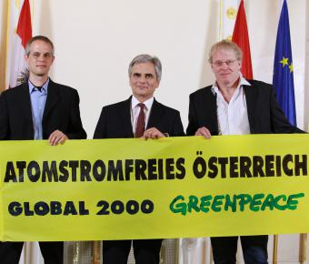 Faymann Greenpeace Global 2000