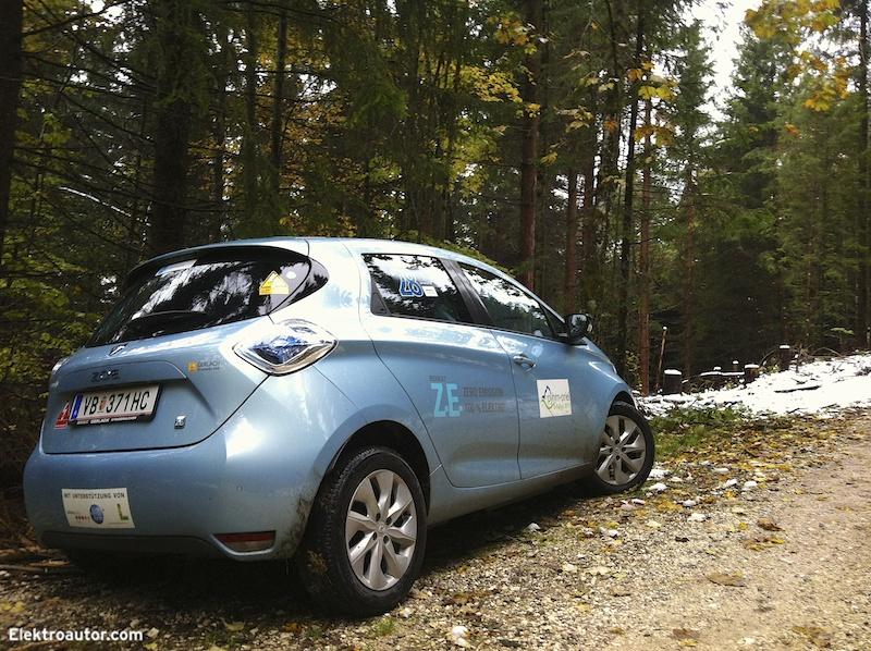 Renault ZOE - erster Schnee