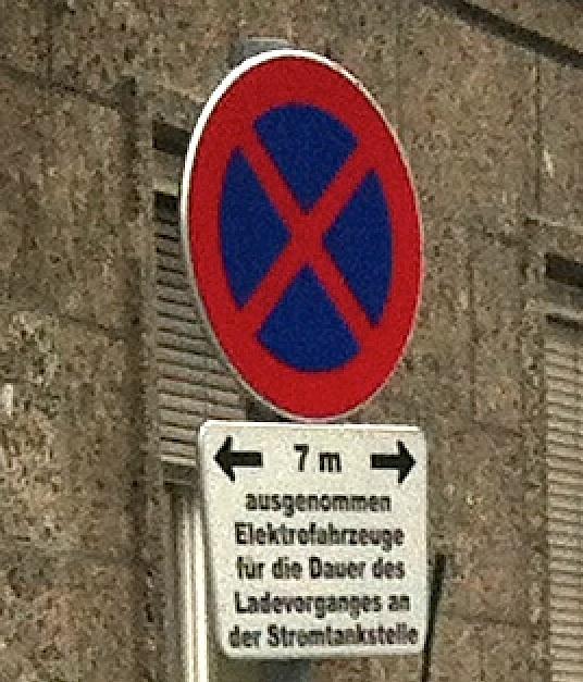 Parkverbot für Benzinautos