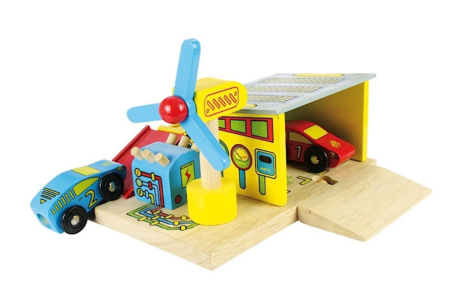 Elektroauto-Tankstelle Spielzeug