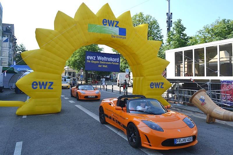 WAVE 2014: Elektroauto-Weltrekord-Parade am 31. Mai in Stuttgart