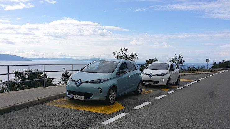 Mit dem rein elektrischen ZOE nach Kroatien ans Meer