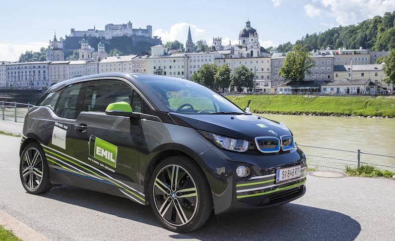Carsharing EMIL in Salzburg – jetzt auch mit BMW i3 und neuer Ausleihstation