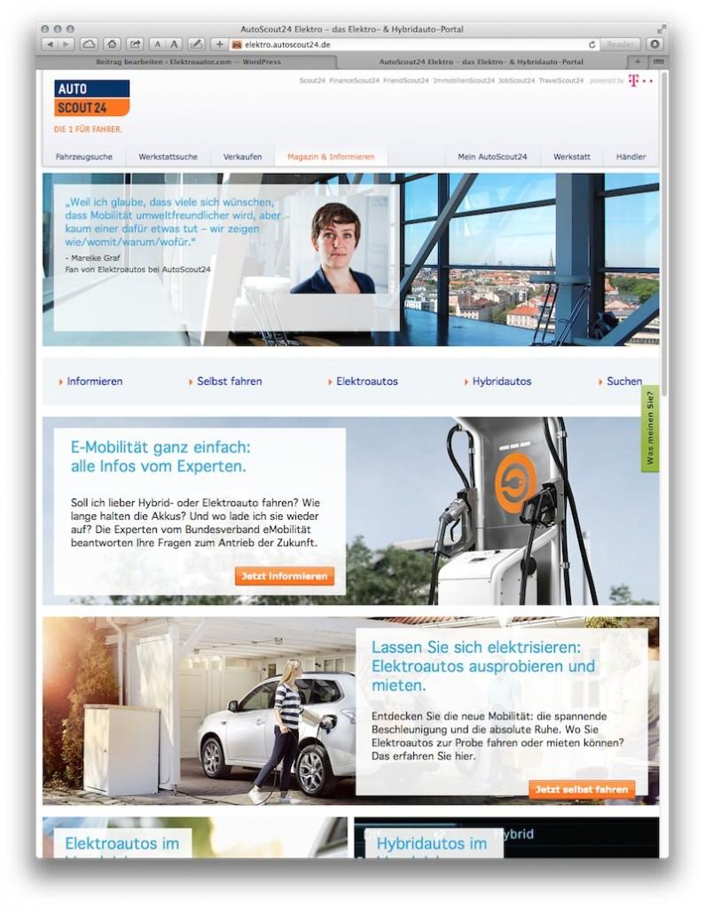 Autoscout24.de mit eigenem Elektroauto-Portal