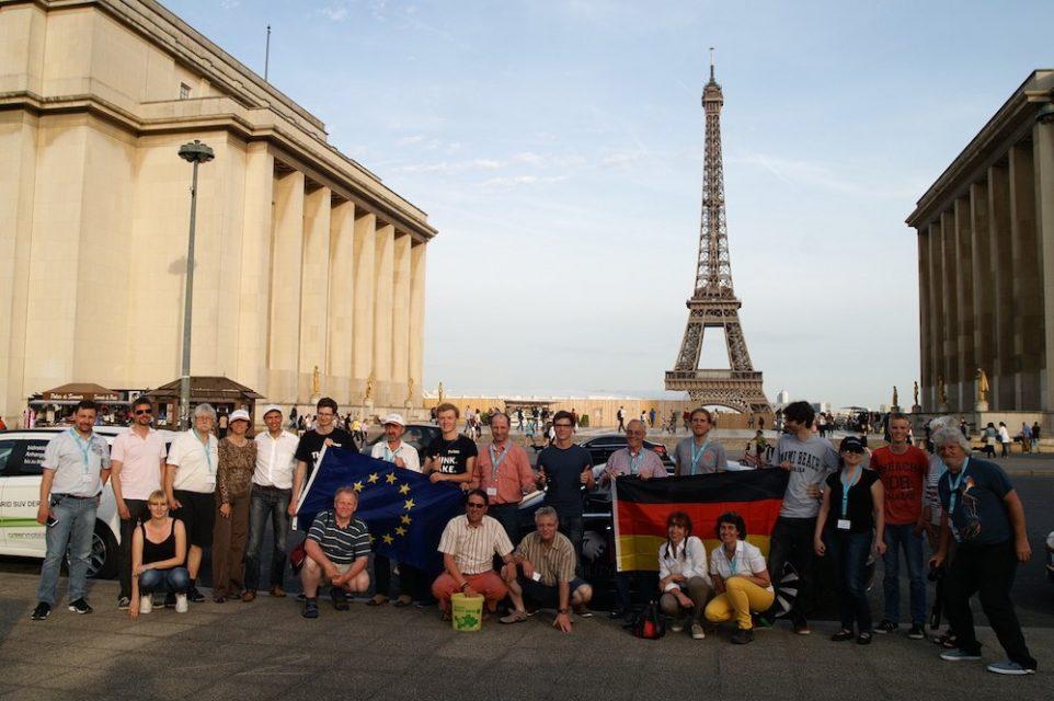 eTourEurope 2015 am 11. Mai 2015 in Paris vor dem Eifelturm