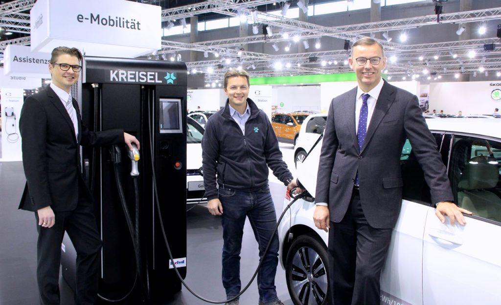 Porsche Holding vertreibt Stromspeicher und Schnellladestationen von Kreisel Electric