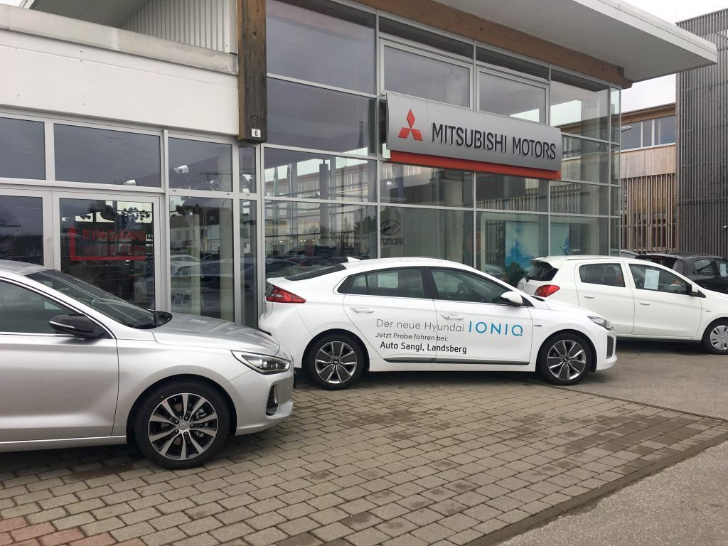 First test drive with the new Hyundai Ioniq electric