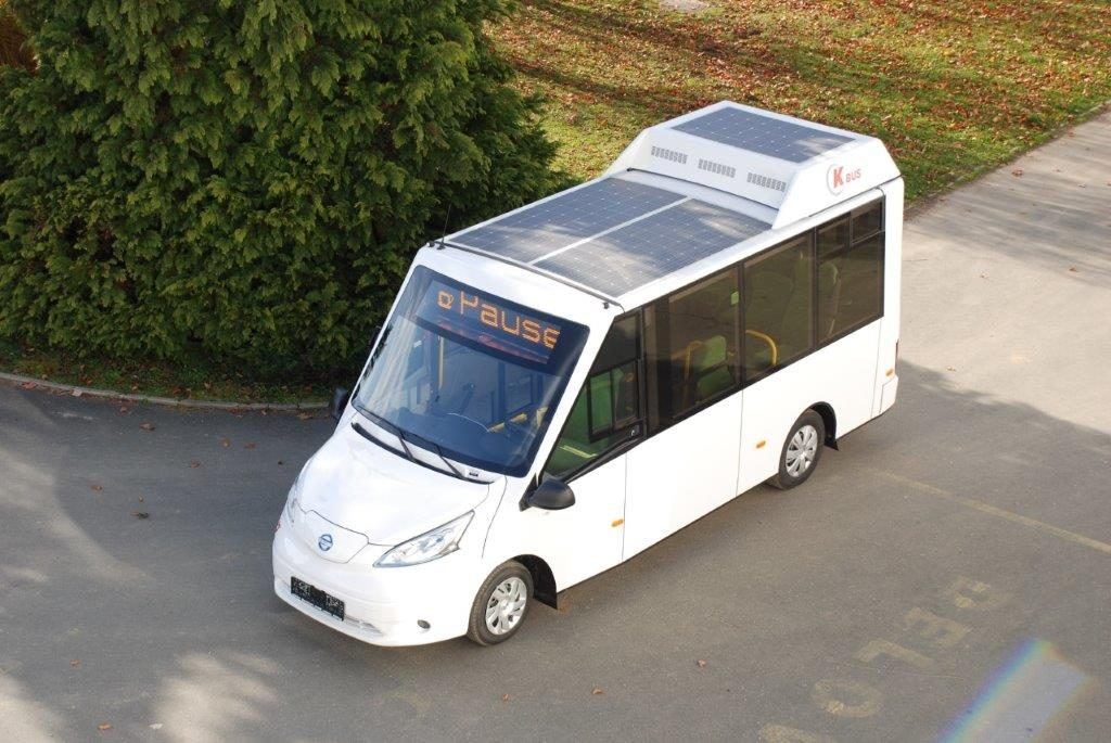 K-Bus provides first 100 % Low-electric-powered and solar Range Extender