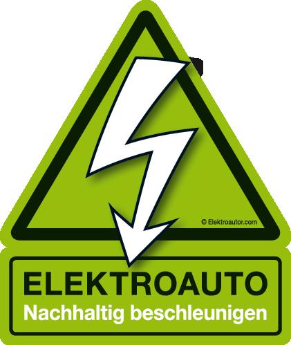 Elektroauto Sticker Aufkleber