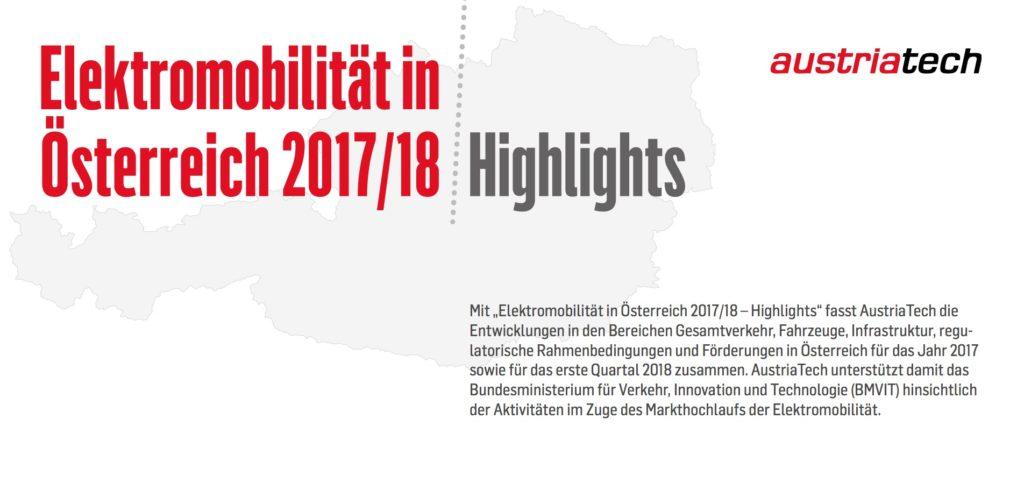 Elektromobilität in Österreich 2017/18 – Highlights
