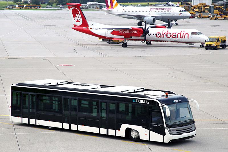 Erster Elektro-Passagierbus Österreichs am Salzburg Airport gelandet