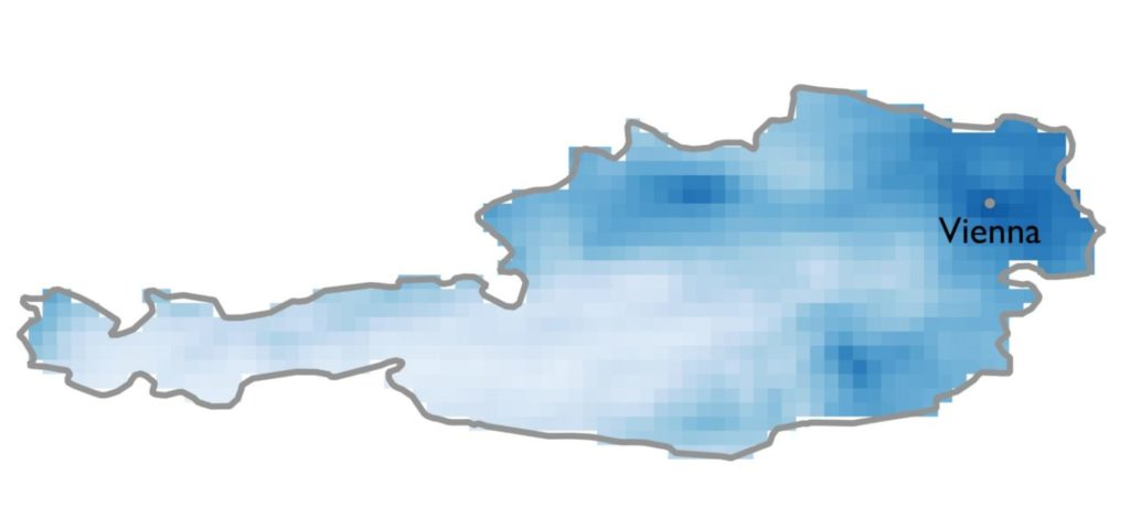 Satellitenbilder zeigen geringere Luftverschmutzung in Österreich seit Corona-Krise